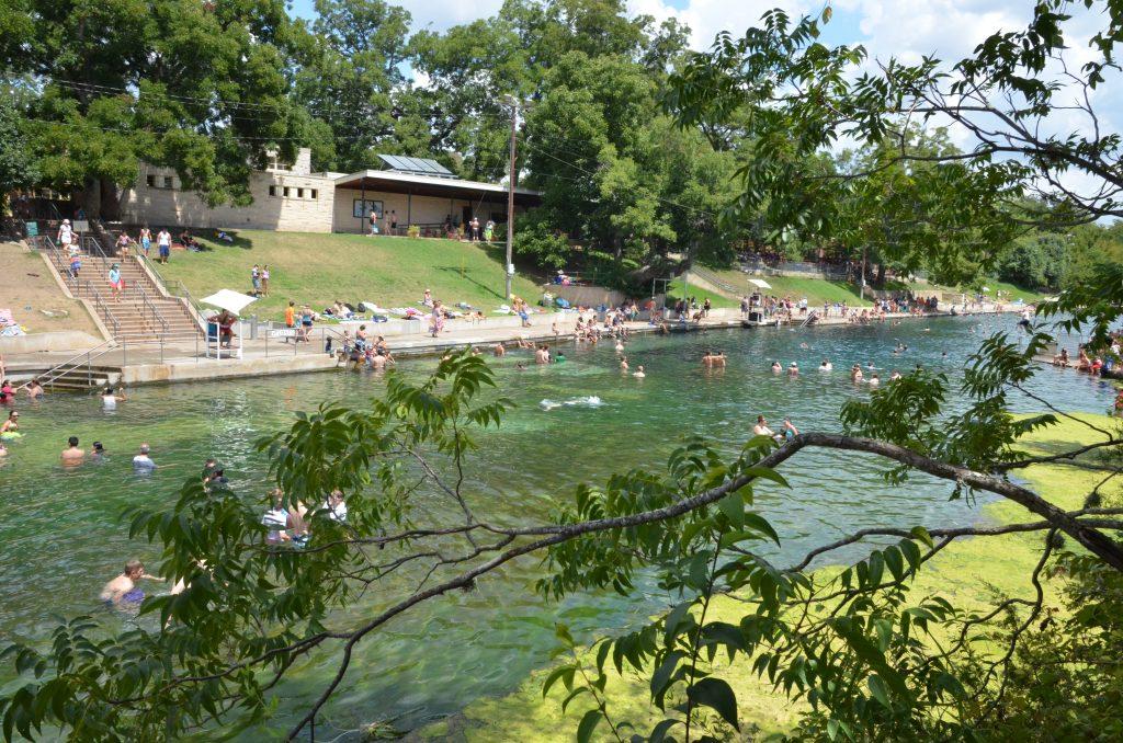 어스틴 텍사스 바톤 스프링 수영장 Barton Spring Pool